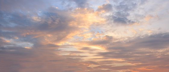 Sky sunset or sunrise background.