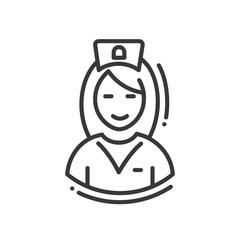 Nurse - line design single isolated icon