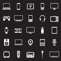 Technology devices icons set