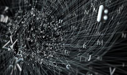 Fondo abstracto con letras.Diseño con palabras y lineas.Concepto de escritura y lectura.Comunicación y lenguaje
