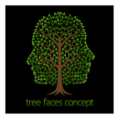 Faces Tree Concept