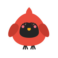 Cute cardinal bird icon