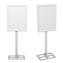 White Display Advertising Stand. 3d rendering