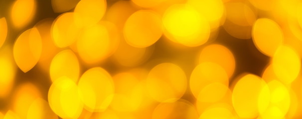 Yellow color light blurred bokeh background, unfocused.