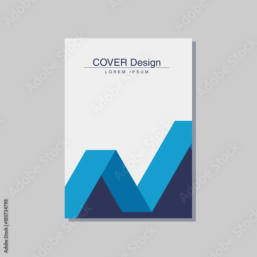 Book Cover Design Size ~ Quot book cover design vector template in a size stock image