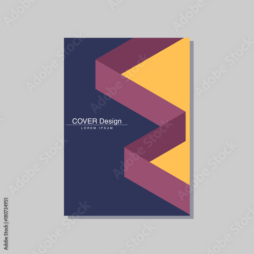 Book Cover Illustration Search : Quot book cover design vector template in a size stock image