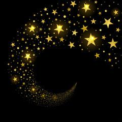 Circular Stream of Sparkling Stars