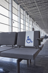 disabled seating in the airport