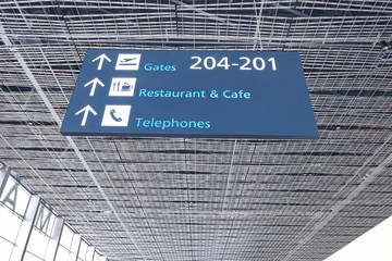 gate sign in the airport