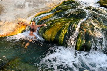 Natural thermal springs, Thermopylae.