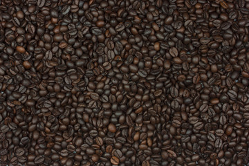 roasted coffee bean as background