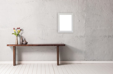 modern wall concept grey background stand and frame