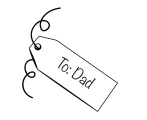 To Dad Tag