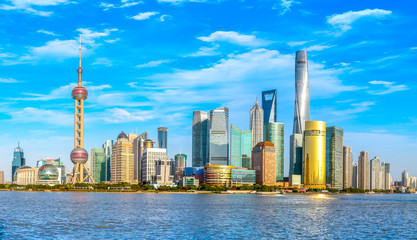 Shanghai Lujiazui panoramic view