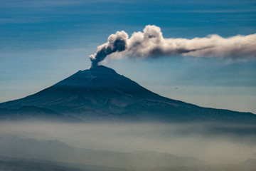 Popocatepetl Volcano erupting asfter mexico earthquake
