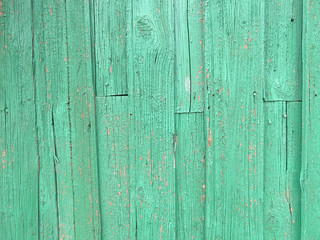 Background tiffany. Blue, green or turquoise background of wood and peeling paint
