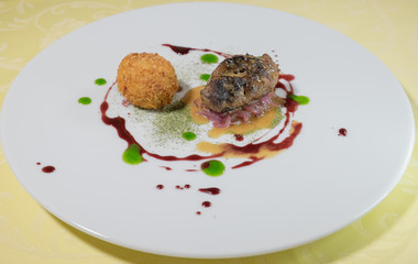 composizione artistica di un piatto