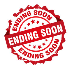 Ending soon rubber stamp design