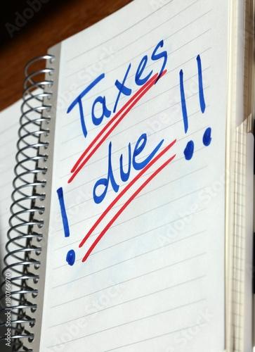 Taxes Dueerinnerung An Einreichen Der Steuererklärung In