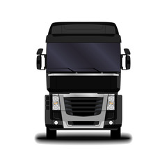 realistic truck. front view.
