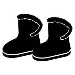 Winter boots silhouette