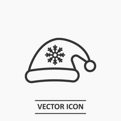 Outline santa's hat icon illustration vector symbol
