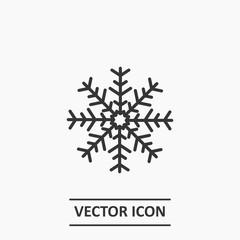 Outline snowflake icon illustration vector symbol