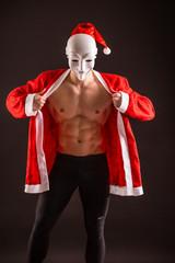 sexy santa claus wearing mask