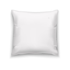 White Pillow. Blank Mock Up for Presentation of Surface Design and Logotypes. Vector Isolated Illustration