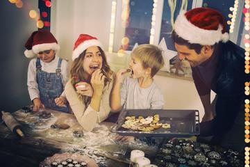Frohe weihnachten Familie