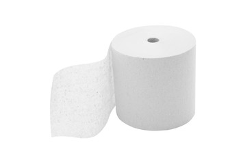 Toilet Paper Roll isolated on white