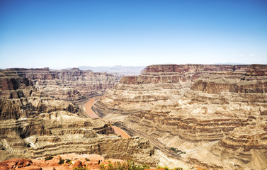 Grand Canyon West Rim  - Eagle Point, sunny day - Arizona, AZ, USA