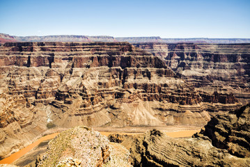 Grand Canyon West Rim  - Eagle Point, sunny day, blue sky - Arizona, AZ, USA