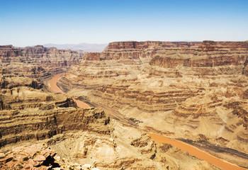 Eagle Point, Grand Canyon West Rim  -  sunny day, blue sky - Arizona, AZ, USA