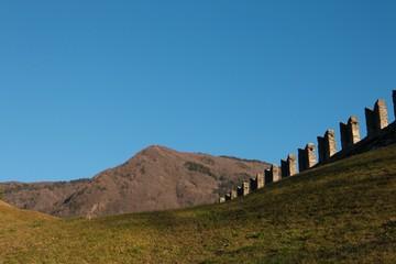 fort castle peak on field