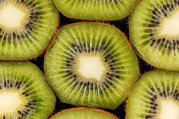 Slices of green kiwi.