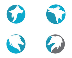 Wolf Logo Template vector icon illustration design