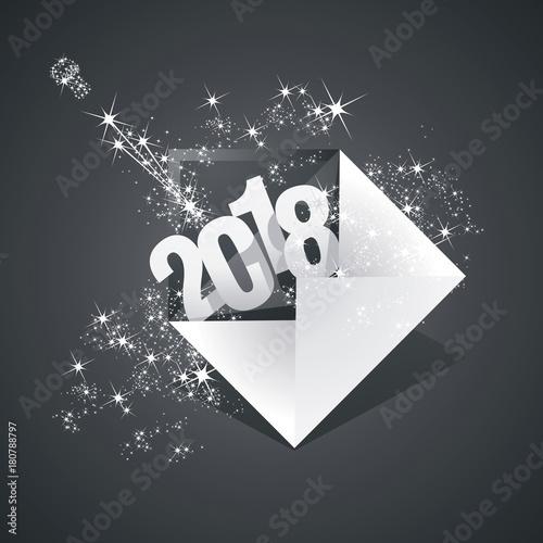 New year 2018 greeting mail firework black background stock image new year 2018 greeting mail firework black background m4hsunfo