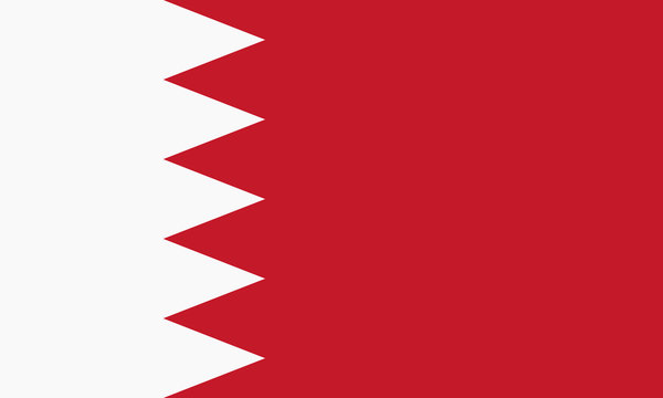 Vector Kingdom of Bahrain flag