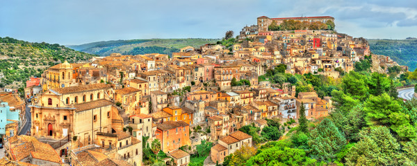 View of Ragusa, a UNESCO heritage town in Sicily, Italy Wall mural