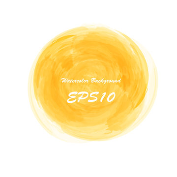 Sunny summer yellow. Watercolor abstract colored background for text banner. Watercolour isolated vector illustration backdrop. Wet hand drawing splash spot poster frame.