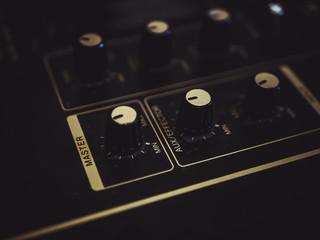 Title: mixer vinyl record turntable knob fader