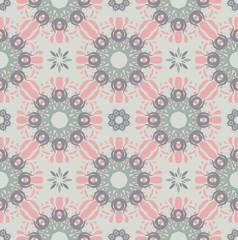 Seamless abstract floral pattern,mandala pattern