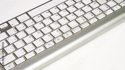 Wall mural keyboard on white background