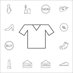 Tshirt Icon. Shopping element. Premium quality graphic design. Signs, outline symbols collection, simple thin line icon for websites, web design, mobile app, info graphics