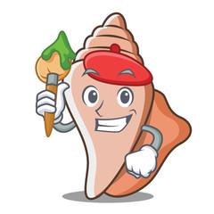 Artist cute shell character cartoon