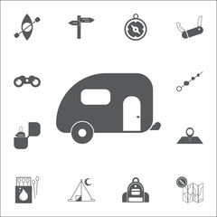 Trailer icon. Set of camping icons