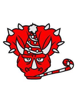 gesicht kopf geburtstag weihnachten geschenke party feiern spaß hut mütze überraschung hörner triceratops groß comic cartoon dinosaurier saurier dino