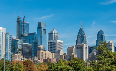 View of Philadelphia downtown