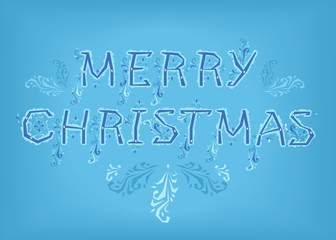 Merry Christmas. Country font